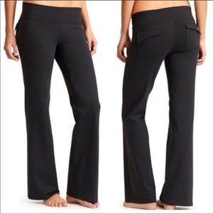 Athleta Fusion Black Fleece Polartec Yoga pants